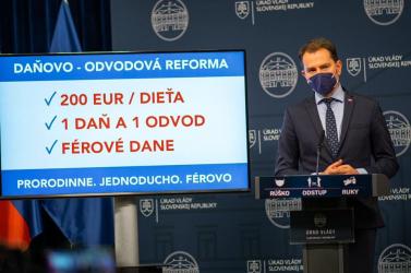 200 eurós családi pótlék, 1 adó – 1 járulék, fair adók – adóreform készül Matovič-módra