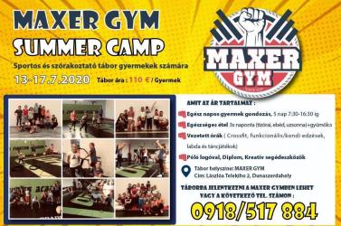 MAXERGYM Summer Camp: Sportos tábor a gyermekek számára, ahol a szórakozás garantált!