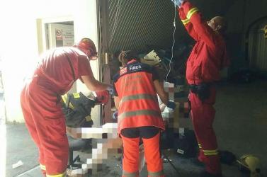 Robbanás volt egy műhelyben, két személy megsérült