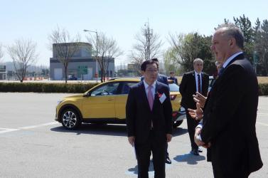 Kiska a Hyundai-Kia vezetőségével találkozott