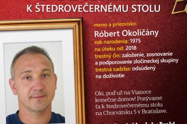 A rendőrség idén is karácsonyi vacsorára invitálja Szlovákia legkeresettebb bűnözőit