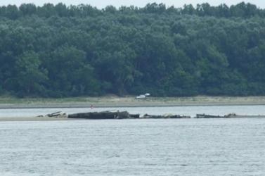 Második világháborús hajók bukkantak elő a Dunából