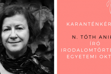 """""""A Dekameron is egy járványtermék"""" – karanténkérdés N. Tóth Anikónak"""