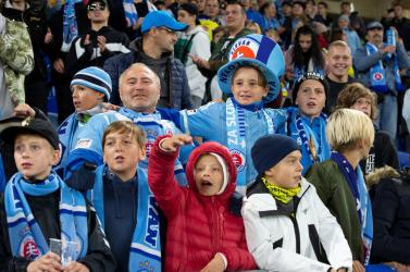 Büntetés ide vagy oda, hatezer gyerek szurkolt a Slovan-Besiktas EL-meccsen