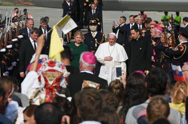 Ahogy a rendőrség látta a vasárnapi pápalátogatást