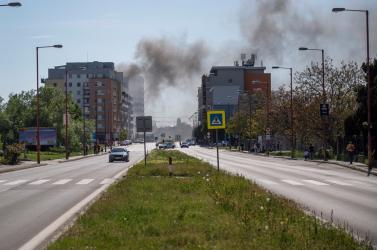 Nem szennyeződött a levegő a hétfői pozsonypüspöki tűz miatt