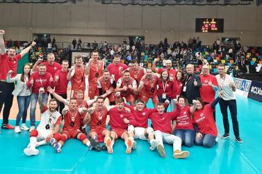 Férfi röplabda: Grazban is győztek a komáromiak, az Olympiacos Pireus vár rájuk a Bajnokok Ligája második fordulójában