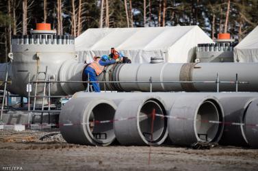 Az Északi Áramlat 2 földgázvezeték 93,5 százalékban kész