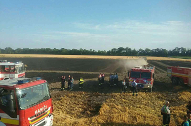 Nagy területen lángolt a gabona Nagyfödémes közelében (FOTÓK)