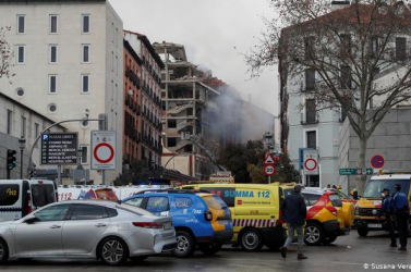 Robbanás történt Madridban, összedőlt egy épület! (VIDEÓK)