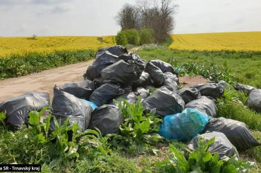 Normális? Valaki szemétdombnak nézte a repceföldet, 40 zsák hulladékot hagyott maga után (videó)