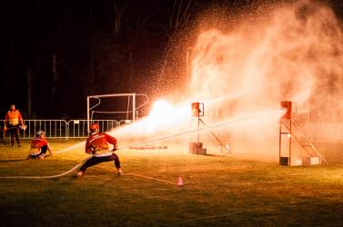Éjjeli tűzoltóverseny Szentmihályfán