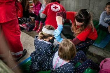 Ovisokat mentettek ki a kultúrházból az önkéntes tűzoltók Csallóköznádasdon