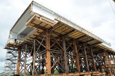 Legkésőbb egy év múlva elkészül az új komáromi Duna-híd