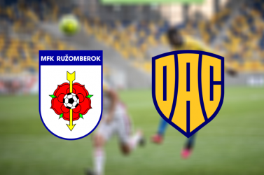 Fortuna Liga: MFK Ružomberok – FC DAC 1904 1:2 (Online)