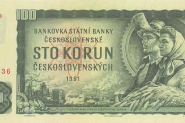 A csehszlovák 100 koronás bankjegy az egyik legszebb a világon