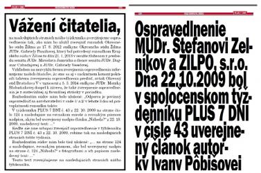 Abszurd büntetést kapott a Plus 7 dní: 54 oldalon óriási betűkkel kellett bocsánatot kérnie