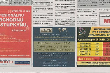 Nyelvtörvény: Magyar nyelvű reklám miatt büntették 1500 euróra a hetilapot!