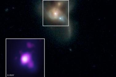 Három óriási fekete lyukra bukkantak három galaxis ütközésénél