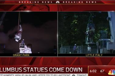 Eltüntettek két Columbus-szobrot Chicagóban