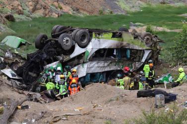 Tragikus buszbaleset - legalább 21 ember meghalt!