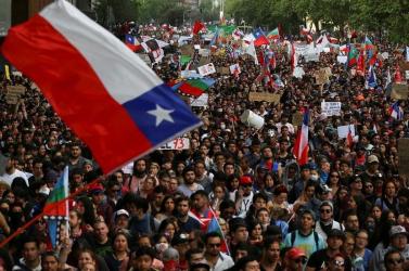 Ismét ezrek tüntettek a chilei fővárosban