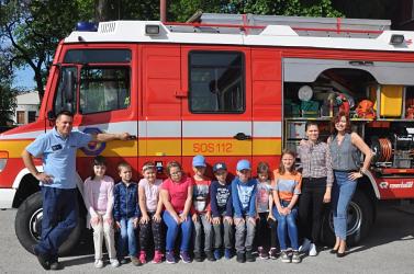 Kisdiákok látogattak a dunaszerdahelyi tűzoltóságra