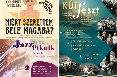 Jazzpiknik és KútFeszt: Zenés-színházi hétvége köszönti az őszt Komáromban