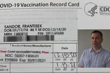 Az első szlovákiai magyar, aki megkapta a COVID-19 elleni védőoltást