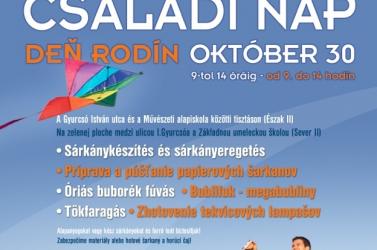 Fontos eszmecsere és játékos családi nap lesz október 30-án a dunaszerdahelyi Észak II. Lakótelepen!