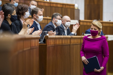 Čaputová megdícsérte Pellegrinit ésMatovičot is, de szólt az ország sebezhetőségéről is