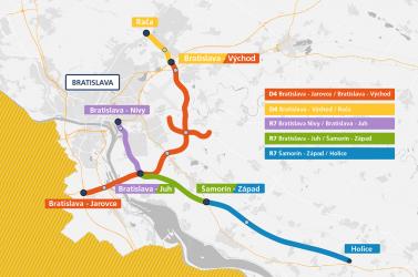 D4/R7 – Szeptember 26–án nyílhat meg a Pozsonyba bevezető utolsó szakasz az R7-esen és az Ártéri híd a D4-esen