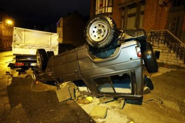 Autókat sodort el a legújabb áradás Belgiumban