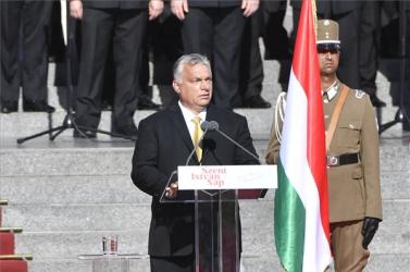 Augusztus 20. - Orbán: A magyarok a túlélés bajnokaiként állnak az európai történelem színpadán