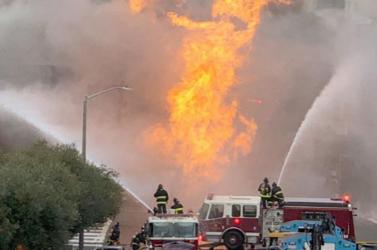 Gázrobbanás miatt kigyulladt öt ház San Franciscóban