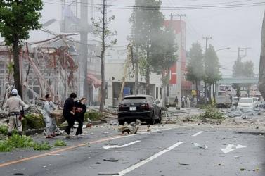 Gázszivárgás miatt történt robbanás egy fukusimai étteremben,egy ember meghalt, sokan megsérültek