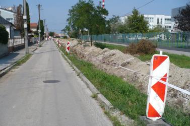 Gázvezeték-korszerűsítés Szenc városában