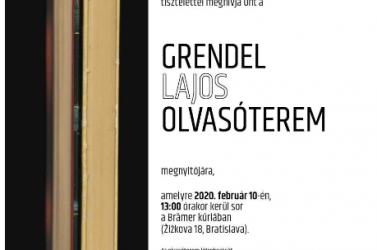 Grendel Lajos olvasóterem nyílik a Szlovákiai Magyar Kultúra Múzeumában