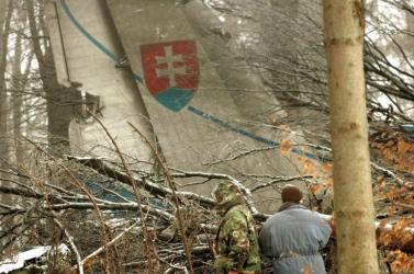 A hejcei légi katasztrófa áldozataira emlékeznek, ahol 42 szlovák katona halt meg