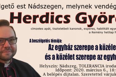 Beszélgetőest Herdics Györggyel Nádszegen