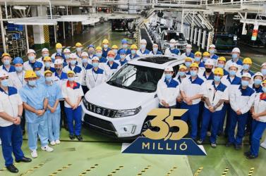Esztergomban legyártották a 3,5 milliomodik Suzukit