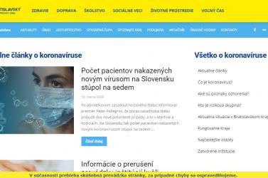 Egy honlapon lehet tájékozódni a koronavírussal kapcsolatos korlátozásokról Pozsony megyében