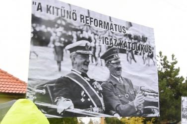Horthy dicsőítői vádolják náci eszmék hirdetésével a hodosi ellentüntetőket?