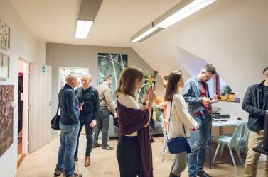Erdő a város közepén - Tóth Helen megnyitotta dunaszerdahelyi műtermét