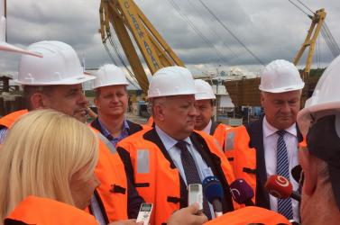 A cél: 2019-ben befejezni az új komáromi Duna-hidat