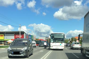 Dunaszerdahely felé tartó autóbusz karambolozott Pozsonyban