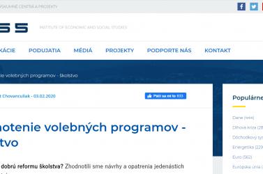 INESS: Jobb a Magyar Fórum (MKÖ) oktatási programja, mint a Hídé
