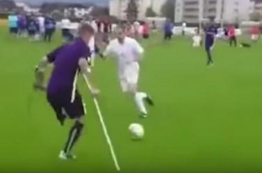 Amputált lábbal is lehet hatalmas gólt lőni (videó)