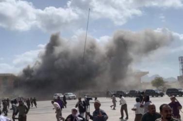 Robbanások történtek a jemeni repülőterén az új kormány tagjainak érkezésekor,öten meghaltak