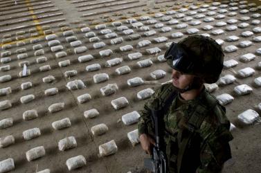Több mint kilenc tonna kokaint foglaltak le Kolumbiában